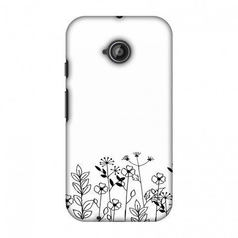 Floral Bunch - Transparent Slim Hard Shell Case For Motorola Moto E 2nd Gen