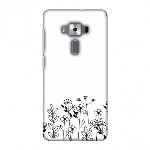 Floral Bunch - Transparent Slim Hard Shell Case For Asus Zenfone 3 Deluxe ZS570KL
