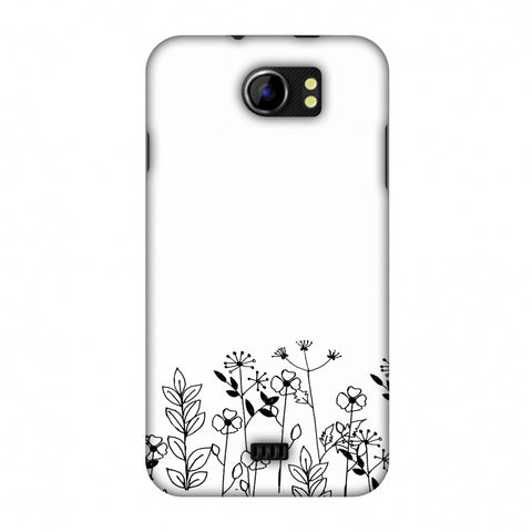 Floral Bunch - Transparent Slim Hard Shell Case For Micromax Canvas 2 A110