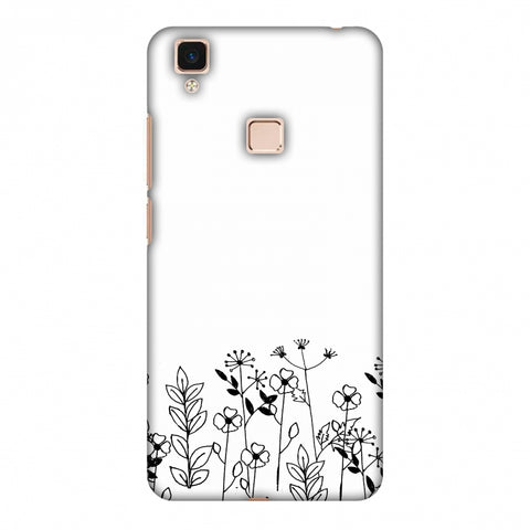 Floral Bunch - Transparent Slim Hard Shell Case For Vivo V3 Max