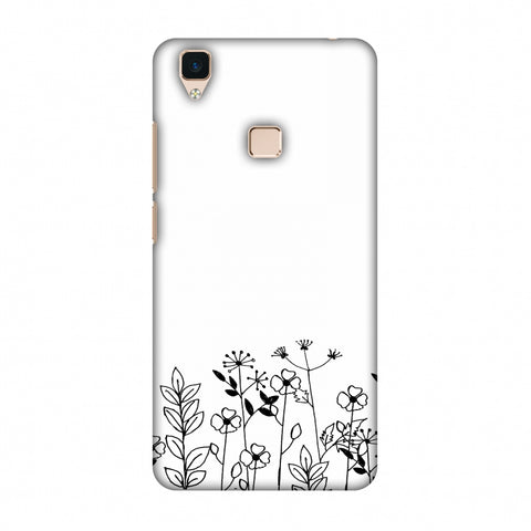 Floral Bunch - Transparent Slim Hard Shell Case For Vivo V3