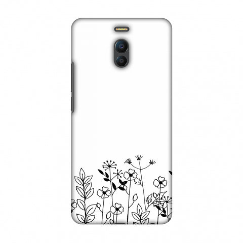 Floral Bunch - Transparent Slim Hard Shell Case For Meizu Note 6