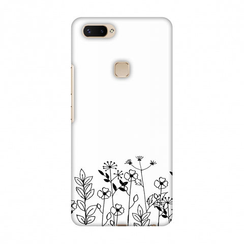 Floral Bunch - Transparent Slim Hard Shell Case For Vivo X20 Plus