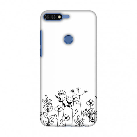Floral Bunch - Transparent Slim Hard Shell Case For Huawei Honor 7C