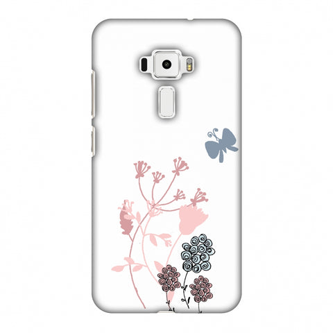 Flowers And Butterfly - Transparent Slim Hard Shell Case For Asus Zenfone 3 ZE520KL