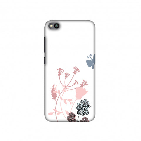 Flowers and butterfly Slim Hard Shell Case For Redmi Go