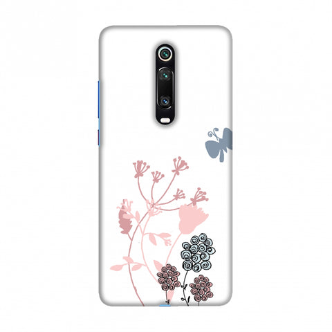 Flowers and butterfly Slim Hard Shell Case For Redmi K20/K20 Pro