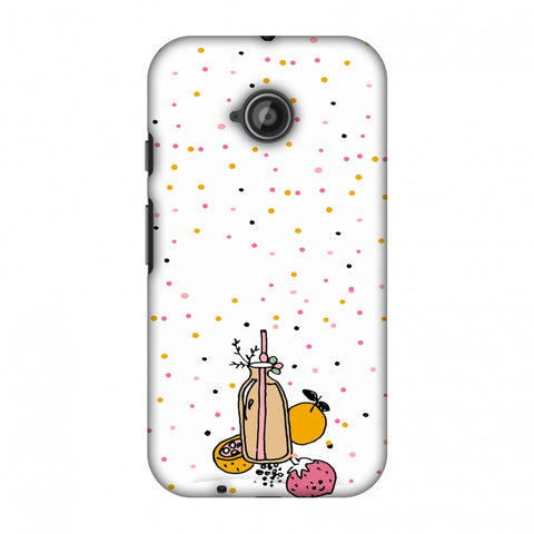 Fruit Affair - Transparent Slim Hard Shell Case For Motorola Moto E 2nd Gen