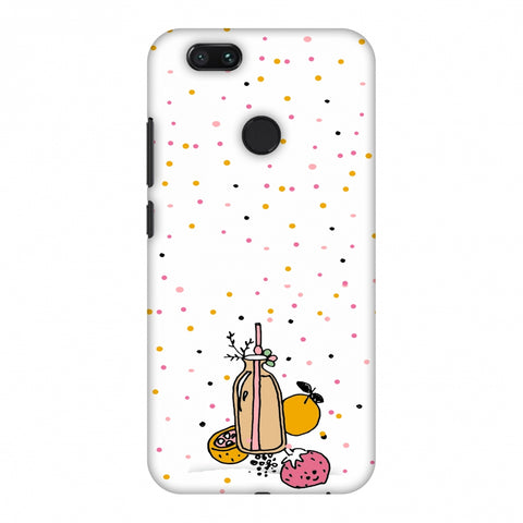 Fruit Affair - Transparent Slim Hard Shell Case For Xiaomi MI A1-5X