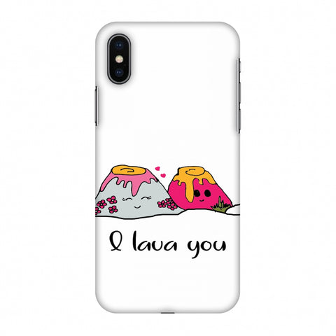 I Lava You - Transparent Slim Hard Shell Case For Apple iPhone X