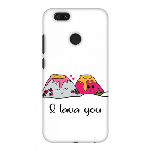 I Lava You - Transparent Slim Hard Shell Case For Xiaomi MI A1-5X