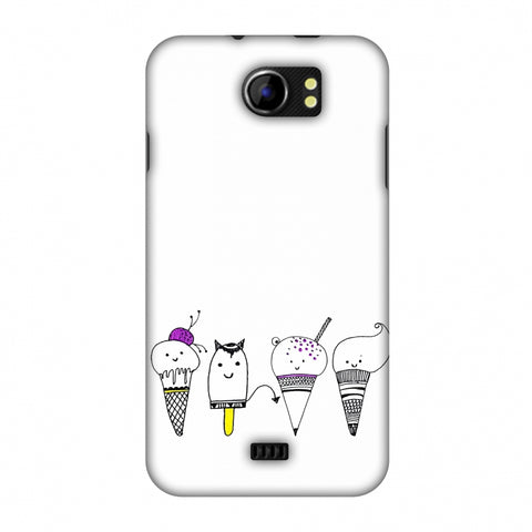 Ice Cream Anyone? - Transparent Slim Hard Shell Case For Micromax Canvas 2 A110