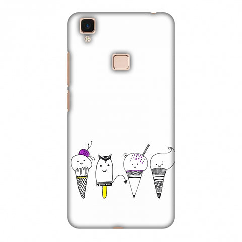 Ice Cream Anyone? - Transparent Slim Hard Shell Case For Vivo V3 Max