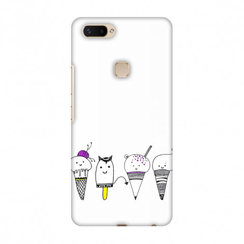 Ice Cream Anyone? - Transparent Slim Hard Shell Case For Vivo X20 Plus