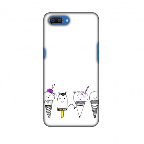 Ice Cream Anyone? - Transparent Slim Hard Shell Case For Oppo Realme C1