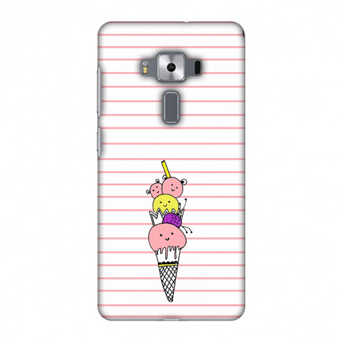 Ice Cream Sisters - Transparent Slim Hard Shell Case For Asus Zenfone 3 Deluxe ZS570KL