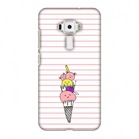 Ice Cream Sisters - Transparent Slim Hard Shell Case For Asus Zenfone 3 ZE520KL