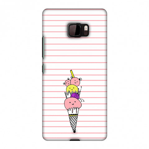 Ice Cream Sisters - Transparent Slim Hard Shell Case For HTC U Ultra