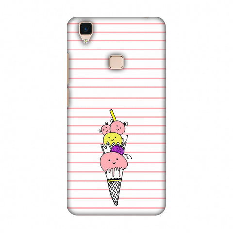 Ice Cream Sisters - Transparent Slim Hard Shell Case For Vivo V3