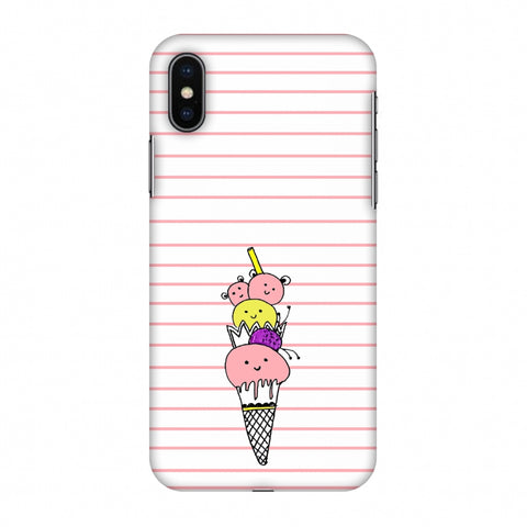 Ice Cream Sisters - Transparent Slim Hard Shell Case For Apple iPhone X