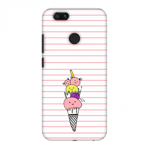 Ice Cream Sisters - Transparent Slim Hard Shell Case For Xiaomi MI A1-5X