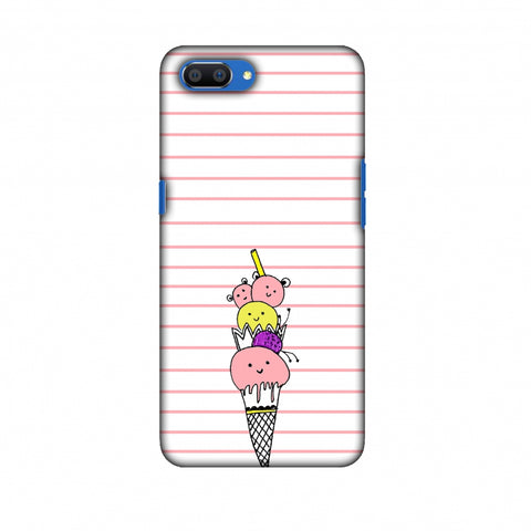 Ice Cream Sisters - Transparent Slim Hard Shell Case For Oppo Realme C1
