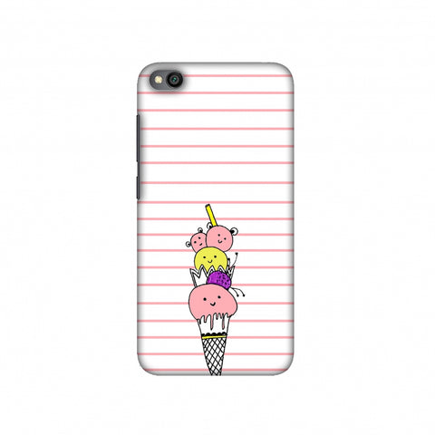 Ice Cream Sisters Slim Hard Shell Case For Redmi Go