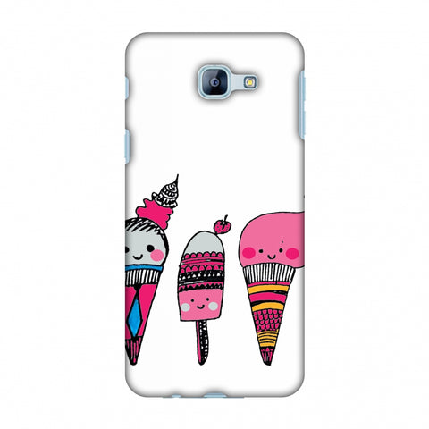Ice Creams - Transparent Slim Hard Shell Case For Samsung Galaxy A8 2016