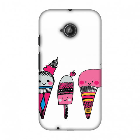 Ice Creams - Transparent Slim Hard Shell Case For Motorola Moto E 2nd Gen