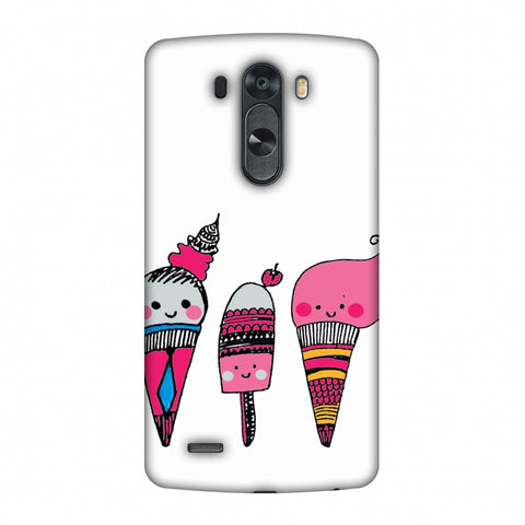 Ice Creams - Transparent Slim Hard Shell Case For LG G4