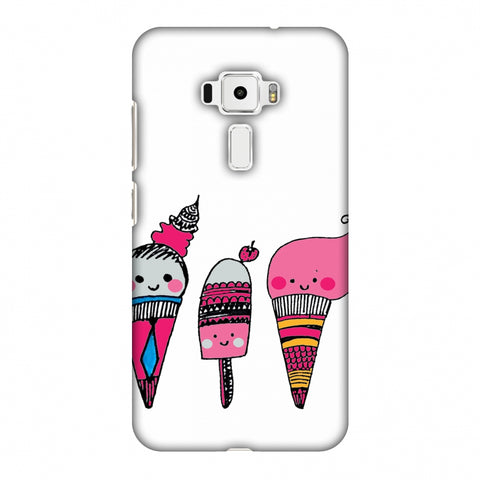 Ice Creams - Transparent Slim Hard Shell Case For Asus Zenfone 3 ZE520KL