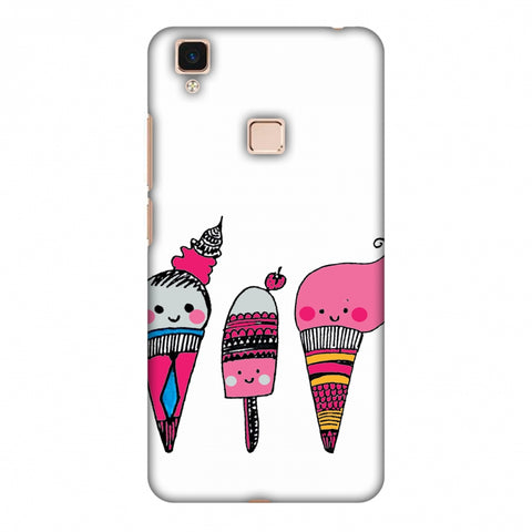 Ice Creams - Transparent Slim Hard Shell Case For Vivo V3 Max