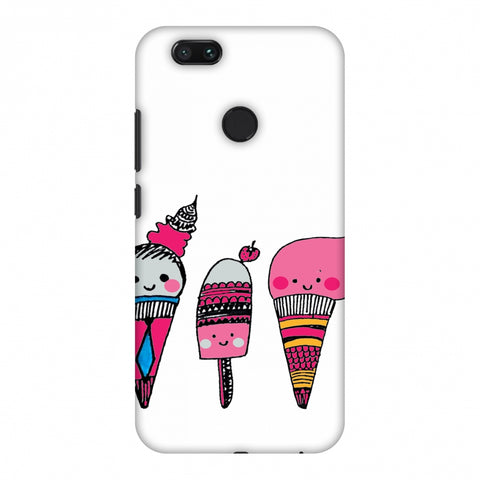 Ice Creams - Transparent Slim Hard Shell Case For Xiaomi MI A1-5X