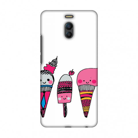 Ice Creams - Transparent Slim Hard Shell Case For Meizu Note 6