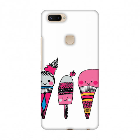 Ice Creams - Transparent Slim Hard Shell Case For Vivo X20 Plus