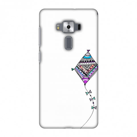Doodle Kite - Transparent Slim Hard Shell Case For Asus Zenfone 3 Deluxe ZS570KL