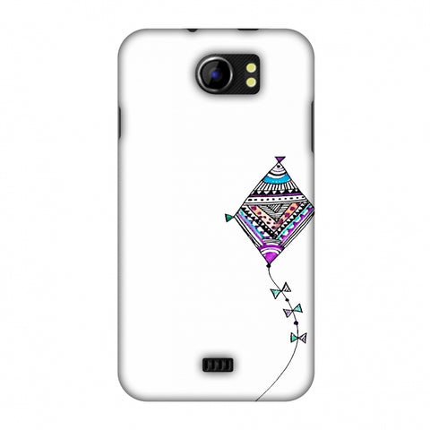Doodle Kite - Transparent Slim Hard Shell Case For Micromax Canvas 2 A110