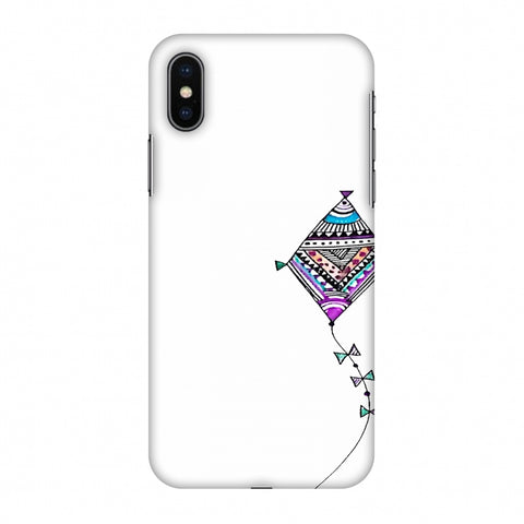 Doodle Kite - Transparent Slim Hard Shell Case For Apple iPhone X
