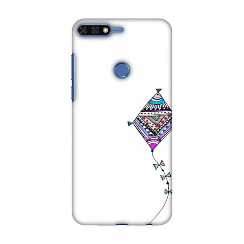 Doodle Kite - Transparent Slim Hard Shell Case For Huawei Honor 7C