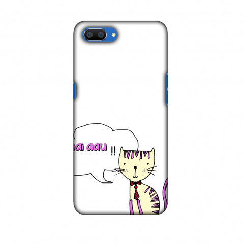 Mai Aau Kitty - Transparent Slim Hard Shell Case For Oppo Realme C1