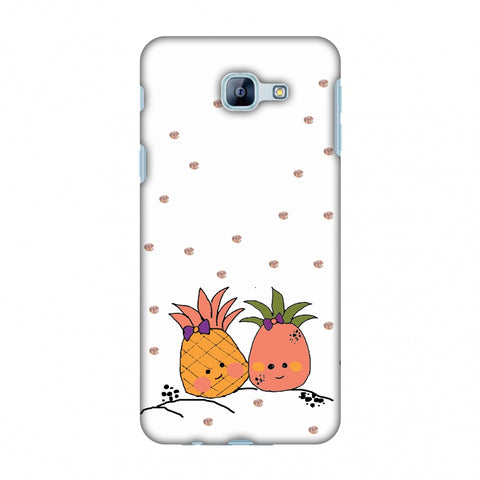 Pineapple Blush - Transparent Slim Hard Shell Case For Samsung Galaxy A8 2016