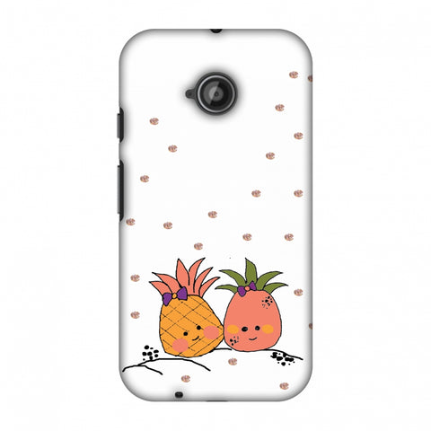 Pineapple Blush - Transparent Slim Hard Shell Case For Motorola Moto E 2nd Gen