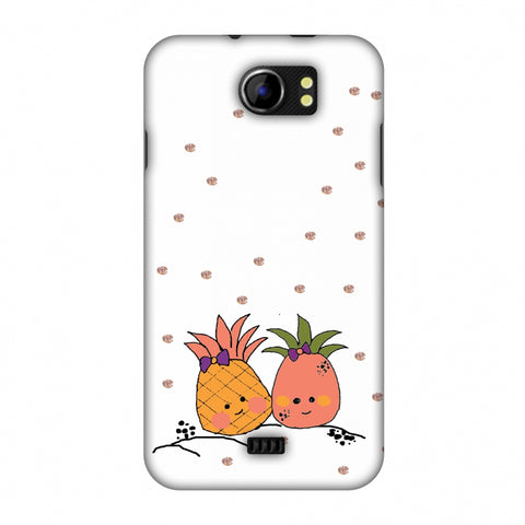 Pineapple Blush - Transparent Slim Hard Shell Case For Micromax Canvas 2 A110