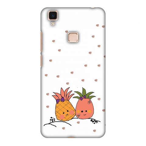 Pineapple Blush - Transparent Slim Hard Shell Case For Vivo V3 Max