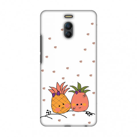 Pineapple Blush - Transparent Slim Hard Shell Case For Meizu Note 6
