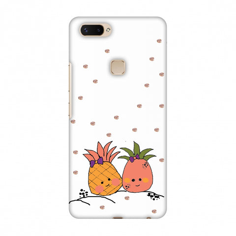 Pineapple Blush - Transparent Slim Hard Shell Case For Vivo X20 Plus