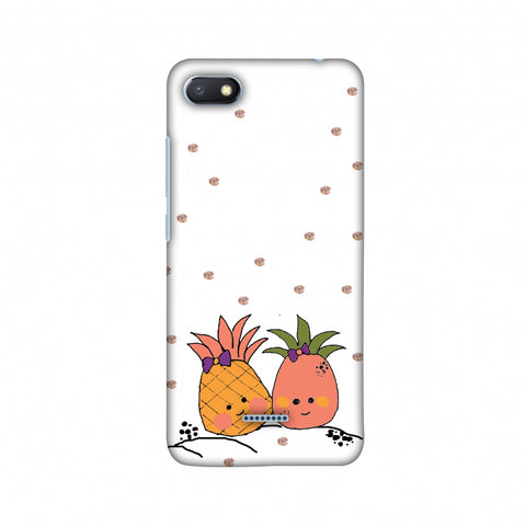 Pineapple Blush - Transparent Slim Hard Shell Case For Xiaomi Redmi 6A