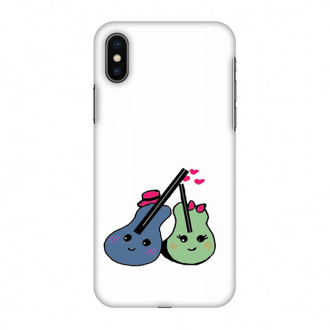 Music Doodles - Transparent Slim Hard Shell Case For Apple iPhone X