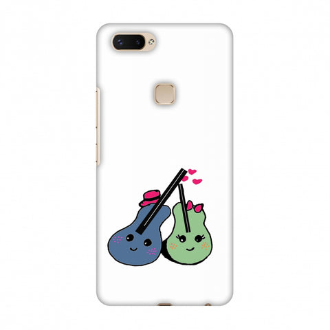 Music Doodles - Transparent Slim Hard Shell Case For Vivo X20 Plus