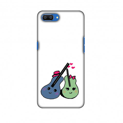 Music Doodles - Transparent Slim Hard Shell Case For Oppo Realme C1